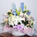 暖かい慰めが・・・生花 アレンジお供え 花束 アレンジメントフラワーギフト 花の贈り物 プレゼント お悔み 悲しい 通夜 お葬式 葬儀 …