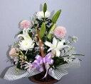 悲しみの日に 【生花 アレンジ】【お供え】花束 アレンジメントフラワーギフト 花の贈り物 プレゼント お悔み 悲しい 通夜 お葬式 葬…