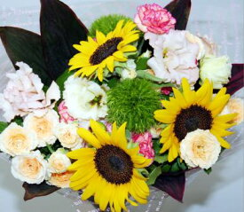 ハッピーブーケ 生花 花束 フラワーギフト 花の贈り物 アレンジ 誕生日 プレゼント 誕生日 お祝い 開店祝い お中元 出産祝 内祝い
