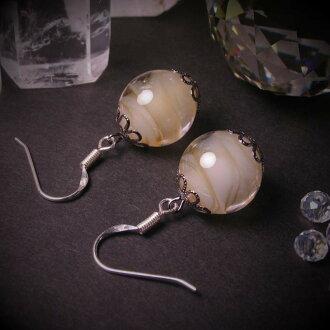 Japanese Lampwork Glass Beads Earrings Yellow Sterling Silver StudioWAZA