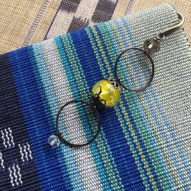 ブックマーク ほたる玉 かんざし 帯飾り 光る イエロー 黄色 男女兼用