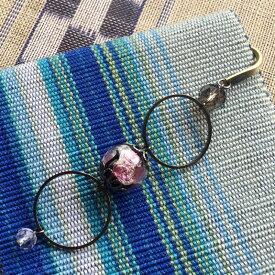 ブックマーク ほたる玉 かんざし 帯飾り 光る ピンク 桜色 男女兼用