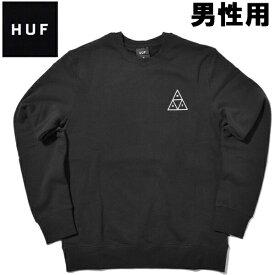 HUF ハフ トリプルトライアングル クルー 男性用 PF00101 メンズ スウェット トレーナ- ブラック (01-23750410)