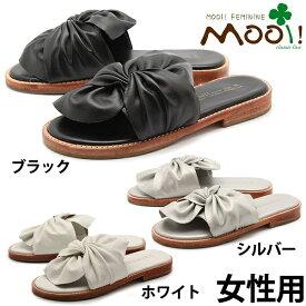 モーイ MF327 本革 リボン サンダル 女性用 Mooi! Feminine MF3270 BLK レディース サンダル(1431-0327)