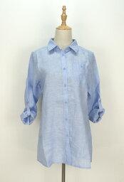 法國的亞麻布長襯衫(M~5L)5色[RCP][購物馬拉松贊助要點最大41倍!]