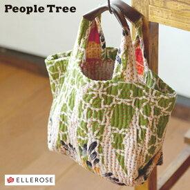 【在庫品限り】peopletree ピープルツリー リサイクルサリーのトートバッグ[Sサイズ] No.169184 フェアトレード かばん カバン 鞄 バッグ バック エコバッグ 1点もの 限定 こだわり かわいい レトロ あす楽