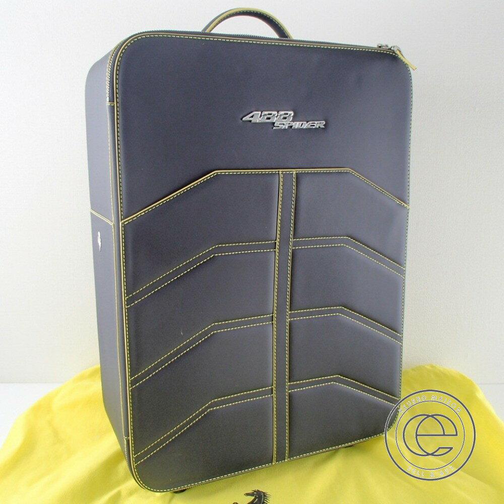 【Ferrariフェラーリ】 488 SPIDER スパイダー オールレザー スーツケース ユニセックス 【中古】
