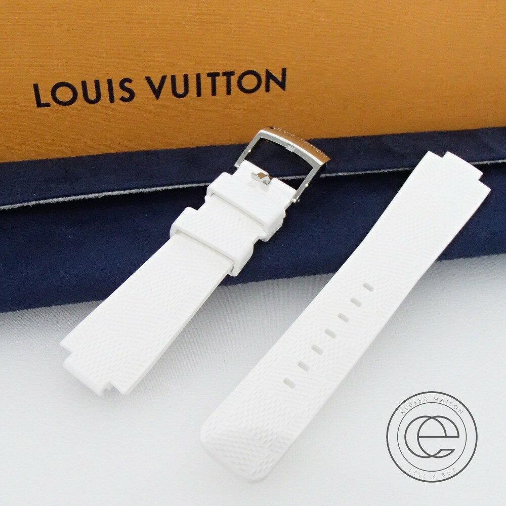 【LOUIS VUITTONルイ・ヴィトン】 R15062 タンブールホライゾン用 ダミエ ホワイト ラバーストラップ 替えベルト 腕時計 【中古】