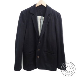 FRANK LEDER フランクリーダー リネン100% 3BテーラードジャケットXS ブラック メンズ 【中古】