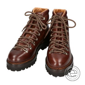 Ralph Lauren ラルフローレン FIDEL II Hand-Burnished Boot マウンテンブーツ 8E ダークブラウン メンズ【中古】
