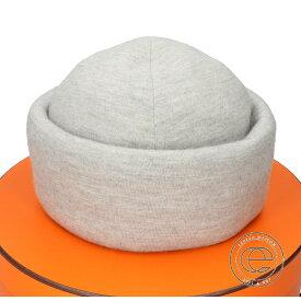 HERMES エルメス 132035N カシミヤ ニット帽 帽子 L 79 GRIS NUAGE レディース 【中古】