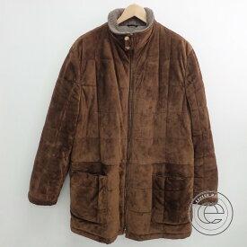 Kiton キートン 襟内側カシミヤ100% スエード キルティングジャケット48 ブラウン メンズ 【中古】