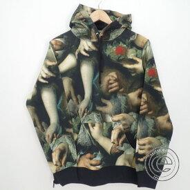 Supreme シュプリーム ×UNDERCOVER アンダーカバー【新品同様◆国内正規◆15SS】 Hooded Sweat Shirt 総柄 プルオーバー スウェットパーカー/トップスM グリーン系 メンズ 【中古】