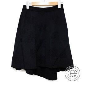 Agnona アニオナ 国内正規◇アシメントリー スカート 38 ブラック レディース 【中古】