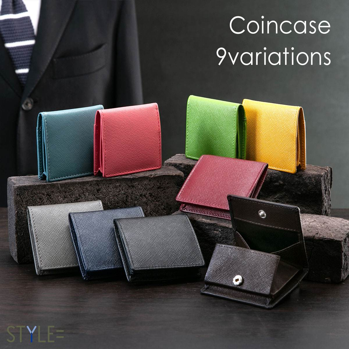 【楽天ランキング1位!】 小銭入れ コインケース 本革 メンズ レディース 出しやすい ボックス型 コンパクト スナップボタン 財布