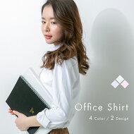 ワイシャツブラウスレディースシャツ事務服長袖オフィス