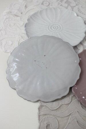 【Blued'Argileブルーダジルフランス】フラワープレート19cmプレート飾り皿花のお皿フランス製輸入食器シャビーシックアンティーク風洋食器