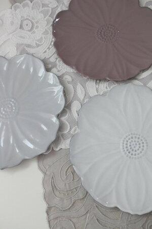 【Blued'Argileブルーダジルフランス】フラワープレート23cmプレート飾り皿花のお皿フランス製輸入食器シャビーシックアンティーク風洋食器