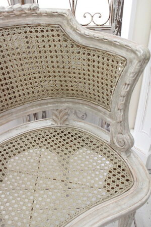 アンティークな木製チェア(クッション付き)椅子【BlancMaricloブランマリクロ】イタリア直輸入シャビーシックアンティーク風アンティーク雑貨フレンチカントリー姫系antique
