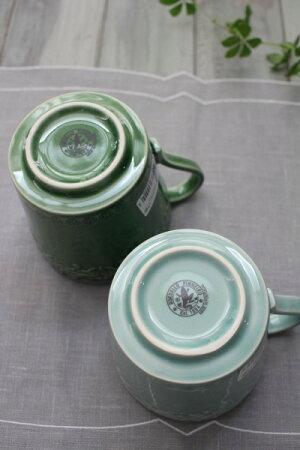 アンティークな輸入食器マグカップマグ(RUANOVA/BG/GR)ボルダロ・ピニェイロポルトガル製おしゃれシャビーシックアンティーク風洋食器