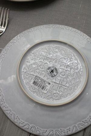 アンティークな輸入食器ケーキプレートケーキ皿(RUANOVA/GY/WH)ボルダロ・ピニェイロポルトガル製おしゃれシャビーシックアンティーク風洋食器