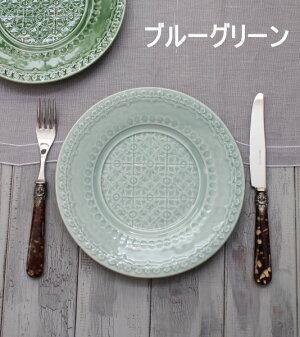 アンティークな輸入食器ケーキプレートケーキ皿(RUANOVA/BG/GR)ボルダロ・ピニェイロポルトガル製おしゃれシャビーシックアンティーク風洋食器
