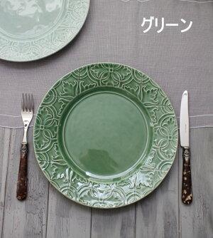 アンティークな輸入食器ディナープレートディナー皿(RUANOVA/BG/GR)ボルダロ・ピニェイロポルトガル製おしゃれシャビーシックアンティーク風洋食器