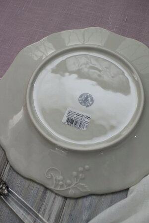 アンティークな輸入食器プレート25cmBBプレートブレッド&バター(リーフ&バード)ボルダロ・ピニェイロポルトガル製おしゃれシャビーシックアンティーク風洋食器
