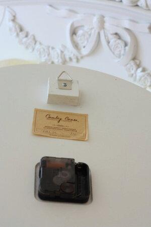 【CountryCorner】ROMANCEコレクションオーバル掛け時計ホワイトカントリーコーナー