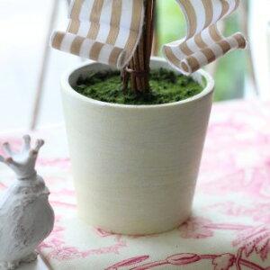 フランスリボン♪フレンチトピアリーSサイズオブジェ置物ツゲトピアリー造花トピアリーツゲ