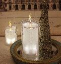 クリスマス置物 (アクリルライトキャンドルL LED8092)アンティーク風 シャビーシック 北欧 フレンチ ロマンティック 可愛い ク…
