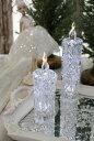 クリスマス置物 (アクリルダイヤモンドキャンドルS LED)アンティーク風 シャビーシック 北欧 フレンチ ロマンティック 可愛い …