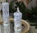 クリスマス置物 (アクリルダイヤモンドキャンドルM LED)アンティーク風 シャビーシック 北欧 フレンチ ロマンティック 可愛い …