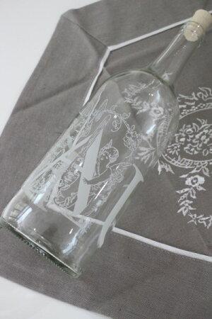 アンティークなボトルエンジェル【フランスコテターブル】ワインボトルガラス製COTETABLEシャビーシックアンティーク風アンティーク雑貨フレンチカントリー姫系antique