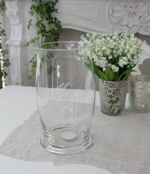アンティークなガラス製の花瓶【フランスコテターブル】フォトフォールガラス製COTETABLEシャビーシックアンティーク風アンティーク雑貨フレンチカントリー姫系antique