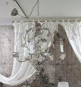 アンティークなシャンデリア Coquecigrues コクシグル フランス シャンデリア(ローズモチーフ) LED 天井照明 輸入品 シャビ…