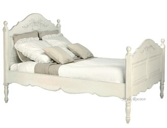 Country corner ROMANCE romance-collection bed, White House fixture France furniture white imported furniture Shabby Chic antique [121042]