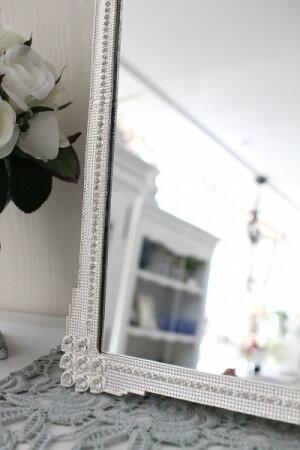 アンティーク風・雑貨(ジュエルミラー004)卓上ミラー壁掛けミラー鏡可愛いシャビーシックフレンチカントリーアンティーク雑貨姫系輸入雑貨antiqueshabbychic