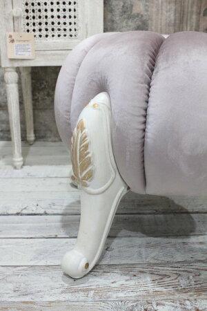 パンプキン型の可愛いスツール(ベルベットピンク)スツール椅子布張りシャビーシックアンティーク調フレンチカントリー可愛い姫系オットマン【送料無料】
