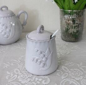アンティーク風 フレンチ食器 ミュゲシリーズ シュガーポット キャニスター フレンチ食器 スズラン フランス アンティーク調 陶器 フレンチカントリー シャビーシック antique