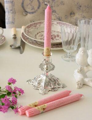 スウィートピンクに甘い香り♪♪アロマキャンドル香り付きキャンドルスティックフレーバーキャンドル