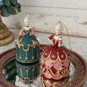 オペラ バレリーナオーナメント ピンク/グリーン 8552 クリスマス 飾り ミラートレイ 置物 オブジェ ヨーロピアン アンティーク風 アン…