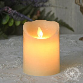 LEDキャンドルライト ホワイト・ショート(8332)LED蝋燭 ロウソク型ライト アンティーク風 アンティーク 雑貨 姫系 輸入雑貨 シャビーシック 可愛い 飾り棚