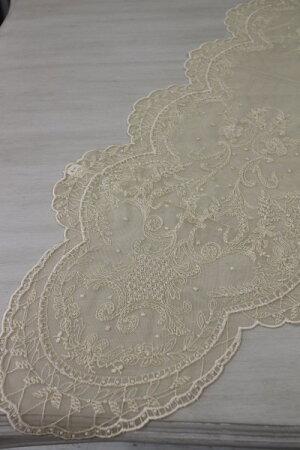 ギリシャ製の美しいテーブルリネン(テーブルランナー40×119cm・2色あり)シャビーシックフレンチカントリーアンティーク雑貨輸入雑貨antiqueshabbychic