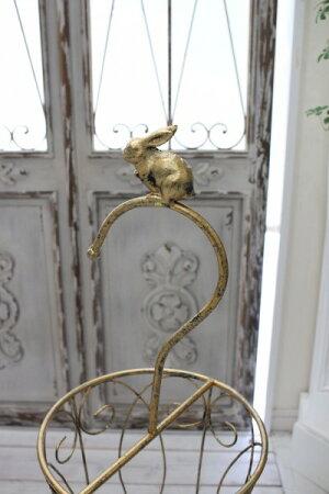 アンティーク風のお洒落な傘立て(ラビット・バード)アンブレラスタンド傘立てゴールドアイアン製シャビーシックアンティーク雑貨アンティーク風輸入雑貨antiqueshabbychic
