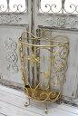 アンティーク風のお洒落な傘立て(半円・アラベスク) アンブレラスタンド 傘立て ゴールド アイアン製 シャビーシック アンティーク …
