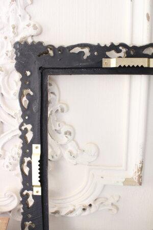 ベルサイユシリーズのシャビーなアラベスクフレーム(シルバー)額縁飾り額シャビーシックアンティーク雑貨アンティーク風輸入雑貨antiqueshabbychic
