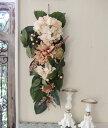 フラワーデコ・アンティークダリア 造花の壁掛け シルクフラワー アーティフィシャルフラワー ウォールデコ 壁飾り 薔薇