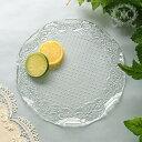 おしゃれ ガラス食器 オフィーリア フリルプレートM  フツールプレート ケーキプレート ケーキ皿 プレート 皿 アンティーク 食器 洋食器 ガラス製 トルコ製 アンティーク風 雑貨 姫系