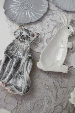 【LaCeramicaV.B.Cラ・セラミカイタリア】アウルプレートフクロウの飾り皿イタリア製輸入食器シャビーシックアンティーク風洋食器